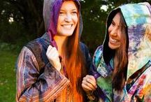 Hoodies and Jackets Blue Sky / Gorgeous bohemian clothing, accessories and tapestries. Beautiful boho style for the modern hippie. All made with eco-conscious dyes, materials and organic cottons using fair trade manufacturing. / by Blue Sky Design Co.