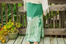 Long Skirts by Blue Sky / Gorgeous bohemian clothing, accessories and tapestries. Beautiful boho style for the modern hippie. All made with eco-conscious dyes, materials and organic cottons using fair trade manufacturing. / by Blue Sky Design Co.