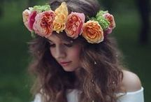 She Wore Flowers In Her Hair / by Blue Sky Design Co.