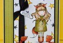 My Gorjuss Girl Cards / Cards I've made using Gorjuss girl stamps :)