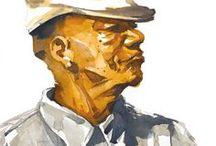 watercolor portrait / World watercolor portrait