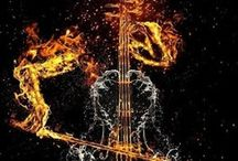 Music / Music is the bridge from Earth to Heaven.   (Its not categorized as i dont see my music that way...music is FREE expression)  -CATEGORIES ARE FOR PRISONERS / by Jatinder Divine Swine Kumar