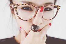 : Glasses : / : I like that glasses suggest intelligence instead of broken eyes :
