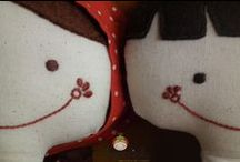 My works / My hand embroidered dolls with Hungarian motifs