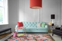"""Kate Spade New York / """"Crisp color, graphic prints and playful sophistication are hallmarks of Kate Spade New York. Herr motto when it comes to decorating: surround yourself with things you love and you'll never go wrong."""" (katespade.co.uk)"""