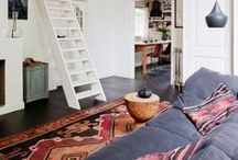 Favorite spaces with kilims / These images have been selected to inspire the viewer on how to use kilims in their own homes. There are endless options - styles/colours to suit all tastes.