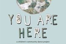 you are here / mood and inspiration for Whaingaroa Youth Movement dance theatre project - YOU ARE HERE