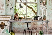 worksp∆ce / modern workspaces and craft rooms with good organization of all your beautiful things