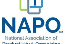 NAPO (National Association of Professional Organizers) / The National Association of Professional Organizers (NAPO) is a group of approximately 4,000 professional organizers dedicated to helping individuals and businesses bring order and efficiency to their lives. Vision is to have the world recognize the value of organizing and turn to NAPO as the leading organizing authority. I am a member of NAPO.