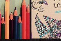 """Libro """"arte terapia"""" / Ilustraciones coloreadas por mi..."""