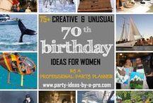 70th Birthday Ideas for Women