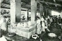The public wash house in the past / Pictures from Italy and the rest of Europe of public wash houses in the past.