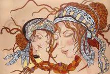 www.illustratia.nl / eigen werk en in opdracht. Illustraties, tekeningen, schilderingen. Eigenwijs ontwerp. Onderwerpen: home en design, geboorte-adoptie- zwanger-gelegenheidsontwerpen.