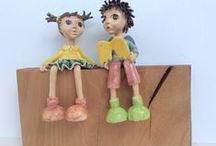 Łobuziaki - ceramiczne figurki / ceramiczne figurki, ceramiczne postacie, ceramiczne ozdoby