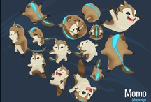 Character Design / The process of creating the characters for Momonga Pinball Adventures. You can read more about the whole process of creating the game at http://www.paladinstudios.com/blog/
