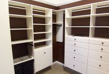 AIH- Our Closet Organization / Are you dreaming of a new luxury closet? Fantasizing about potential shelving organization? Drooling over built-in laundry baskets?  Check out some of the closet work we've done for our clients and visit us at www.americainhome.com.