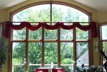 AIH- Our Window Treatments / What does your dream window treatment look like? Check out these pictures of our client's new custom window treatment designs.