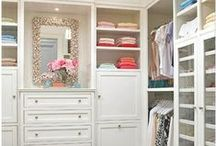 Closet Organization / We love these ideas for customized closets. What do you think?