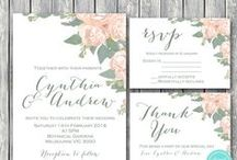 Wedding Invitation Printable / Printable Wedding Invitations, Wedding Suites, Personalized Wedding Invitations, Matching Thank you Cards, RSVP Cards
