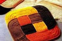 Knitted Patchwork, African flower, Afghan