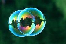Raindrops, dew drops and bubbles