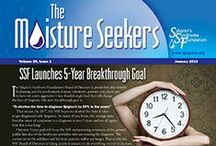 """The Moisture Seekers  / 2012 Covers:  """"The Moisture Seekers,"""" SSF's patient newsletter, contains the latest information and articles on Sjögren's from leading medical professionals, practical tips for daily living, and answers to medical questions from the experts.   Start receiving your issues now by signing up for an SSF membership: http://www.sjogrens.org/home/get-connected/become-a-member or if you have any questions about membership email info@sjogrens.org."""