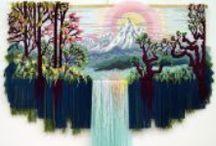 Voluminous Nonwovens tapestries
