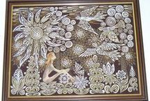 Izon / The original form of decorative art, rooted in folk handicrafts England. Оригинальный вид декоративно-прикладного искусства, уходит корнями к народным промыслам Англии.