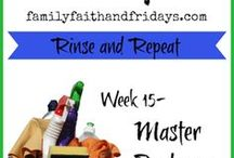 34 Weeks of Clean / Join us while we take control our our house, clutter and all, one week at a time!  34 Weeks of Clean! series
