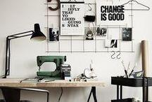 Atelier couture et loisirs - Sewing room / Petite sélection d'idées d'aménagement de votre atelier. Sélectionné par Mercerie Caréfil http://www.merceriecarefil.com/fr/