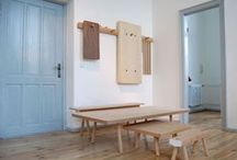 Interiors with Wood and Color / Interiors with powerful colors paired with wood finishes