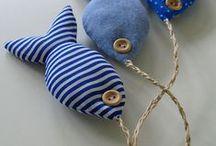 Poisson d'avril ou poisson d'océan / Sélection de jolis poissons à coudre par http://www.merceriecarefil.com/fr/