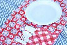 Pique-nique & Set de table / Une sélection de set de table pour vos intérieurs et idées de créations pour partir à l'assaut des parcs, jardins et plages pour un pique nique party! !