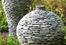 Ton, Steine, Scherben.... / Keramik, Glas, Lehm, Holz, Stein, Porzelan, Beton, Metall  & ähnliche Gestaltungselemente.
