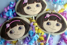 Iced biscuits - kids characters