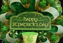 St. Patrick's Day - Wreaths / Beautiful wreaths for celebration of St. Patrick's Day!!! / by Therese Scribner