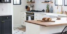 Cuisine | Kitchen / Tout pour la cuisine : rangements, aménagement, déco. Cuisine moderne, scandinave ou champêtre, blanche ou en couleur, et pourquoi pas une cuisine ouverte avec un îlot central.