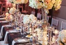 Head Table Inspiration / Images and inspiration of head tables for a wedding reception. Wedding reception decor, wedding flowers, wedding centerpieces