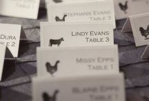 Escort Cards / Ideas and Inspiration for escort cards and escort card displays