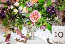 Wedding Reception Flowers / Inspiration, ideas, and images of wedding flowers at a reception. Wedding decor, wedding floral, wedding centerpieces