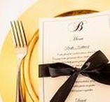 Wedding Menu Cards / Images and inspiration for printed wedding menu cards