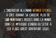 """Le Saviez-Vous ?! / Retrouvez dans cette album les visuels de la rubrique """"Le Saviez-Vous Spécial Parcs et Attractions"""" par E-Coasters"""