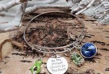 TEAL - BLUE - GREENS / Awareness Jewelry Art Designs