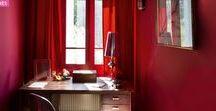 Rouge | Red / La couleur rouge par petites touches dans toutes les pièces de la maison.