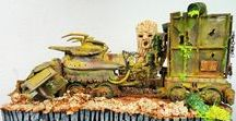 """Liquid Waste Fuel Recycling / Once upon a time... 1/35 Diorama fantasy vehicles scratch building sci fi Post apocalyptic www.tapir-models.ro Life after """"Button"""" Trump:)"""