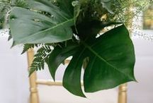 Greenery, Botanical, Tropical - Wedding Inspiration / Wedding ideas inspired by Greenery. Combine lush greens for table decorations and floral arrangements or carry colour through dresses and stationery.