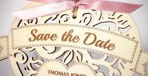 Wooden Wedding Stationery and Decorations / Wooden laser cut and engraved wedding invitations, save the dates and decorations by The Cross-Eyed Fox.