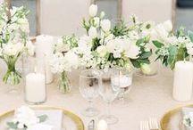Monochrome | Tone on Tone Wedding Inspiration | Modern White Wedding Ideas / White, cream and neutral tone wedding ideas, layered with textures to add dimension.