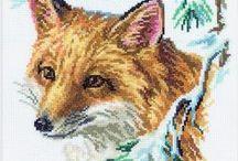 Animals ( Koalas, Foxes, Deers, Giraffe, Frogs, Otters, Hippos, Hedgehogs,Squirrels,Bunnies,Wolfs / Cross stitch animal patterns. / by Fatbardha Pojani