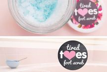 Homemade body scrubs and soaps